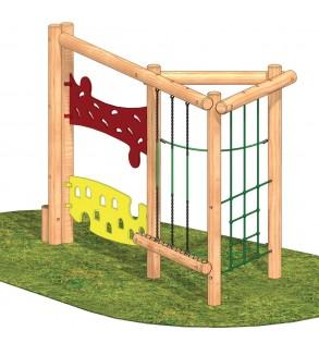 Çocuk Oyun Parkı Ahşap Tırmanma Seti