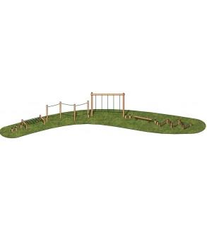 Çocuk Oyun Parkı Ahşap Aktivite Seti