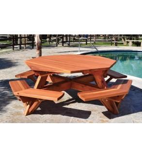 Ahşap Altıgen Piknik Masası