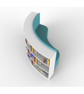 Modern Kitaplıklı Okuma Koltuğu
