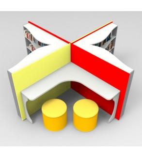 Kitap Kitaplık ve Okuma Masası