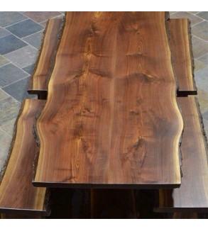 Doğal Ahşap Kütük Piknik Masası