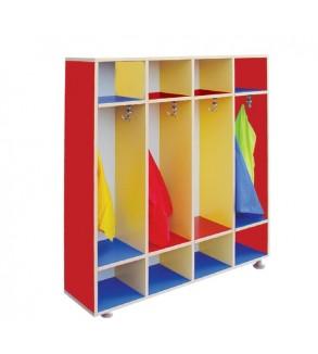 Open shelf coat stand