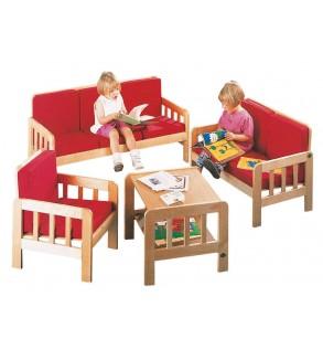 Plywood sitting group