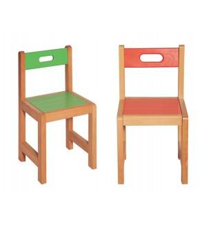 Anaokulu - Kreş Ahşap Sandalye
