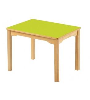 طاولة مع مربع خشبي