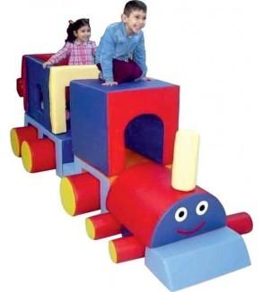 Mutlu Tren Renkli Sünger Oyun Grubu