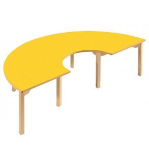 طاولة خشبية تصف دائرية