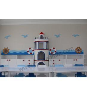 Mavi Deniz Feneri Dolap Grubu