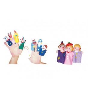 Kreş-Anaokulu Plastik Başlı Parmak Kuklalar