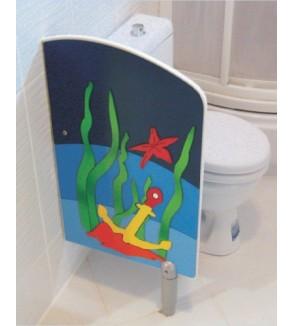 Anaokulu Kreş Figürlü WC Paravanı