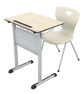 Art compact single school desk