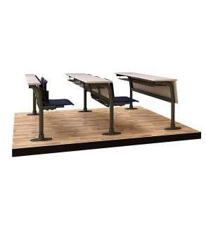 Classic lecture desk (triple sitting)