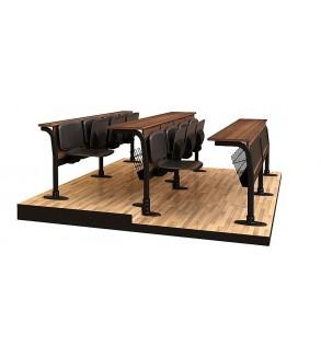 Revêtement en cuir quatre assis conférence bureau