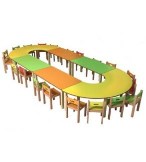 Anaokulu Oval Oyun Masası